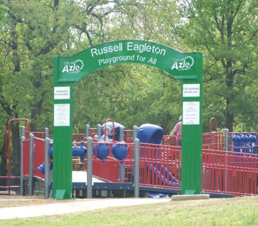 Russell Eagleton Playground sign